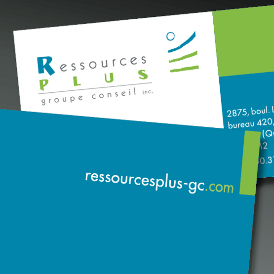 Logo et cartes d'affaires — Ressources plus